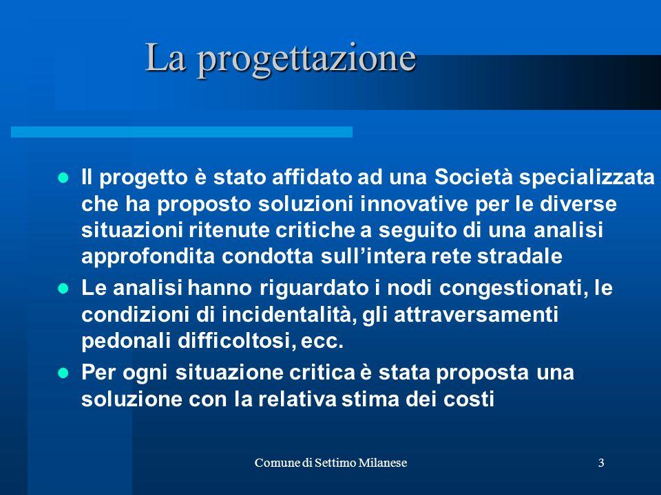 Comune di Settimo Milanese3 Il progetto è stato affidato ad una Società specializzata che ha proposto soluzioni innovative per le diverse situazioni r