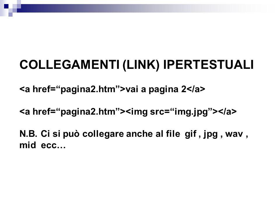 COLLEGAMENTI (LINK) IPERTESTUALI vai a pagina 2 N.B.