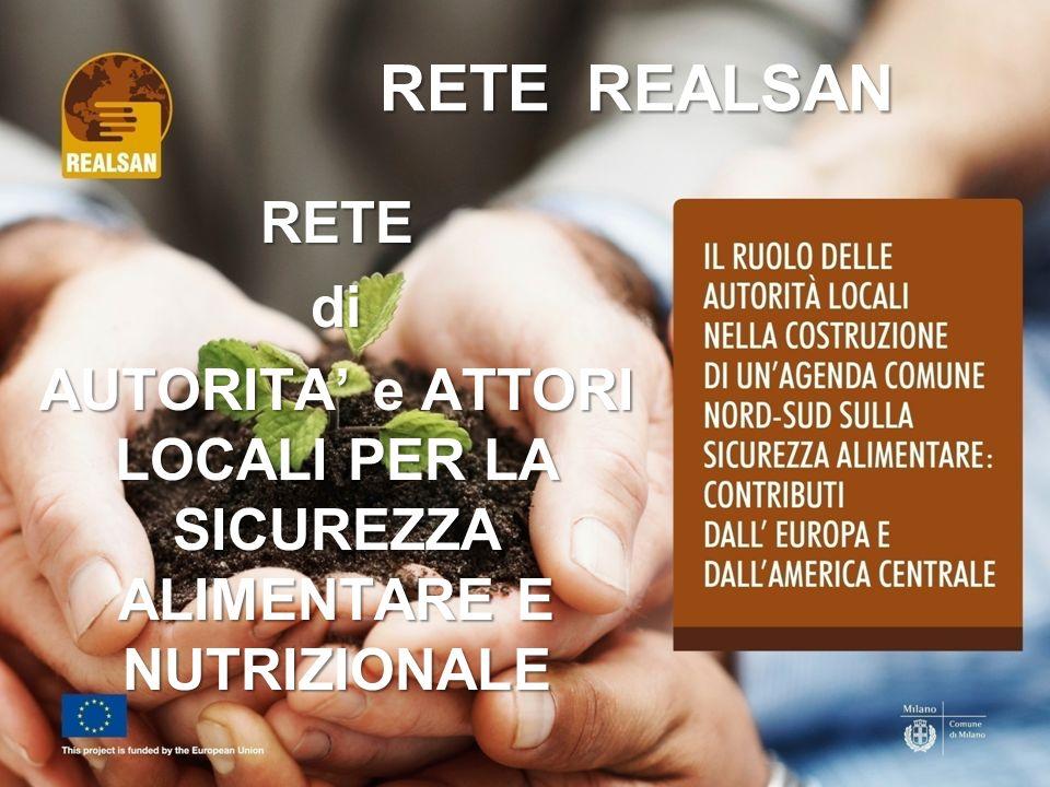 RETE REALSAN RETEdi AUTORITA e ATTORI LOCALI PER LA SICUREZZA ALIMENTARE E NUTRIZIONALE