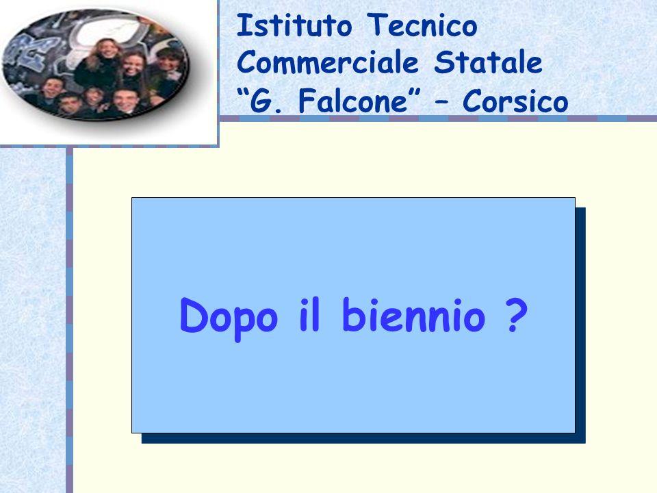 Istituto Tecnico Commerciale Statale G. Falcone – Corsico Dopo il biennio ?