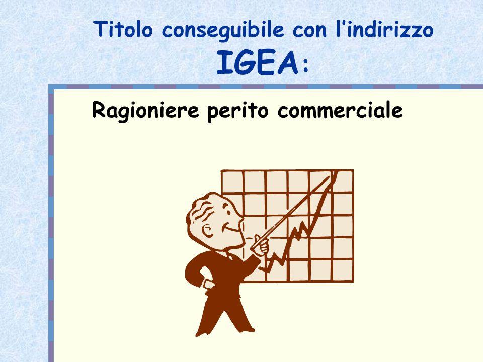 Quadro orario IGEA Terza Quarta Quinta Religione 1 1 1 Italiano 3 3 3 Storia 2 2 2 Inglese 3 3 3 2° lingua straniera 3 3 3 Matematica e inf.
