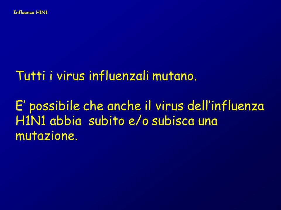 Tutti i virus influenzali mutano.