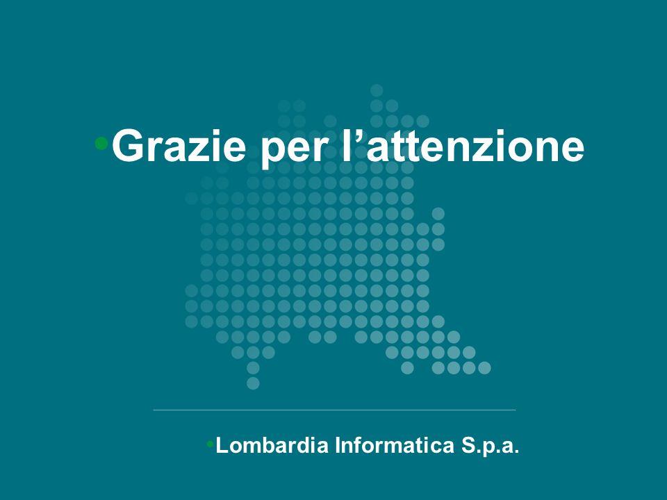 Lombardia Informatica S.p.a. Grazie per lattenzione 16 Grazie per lattenzione Lombardia Informatica S.p.a.