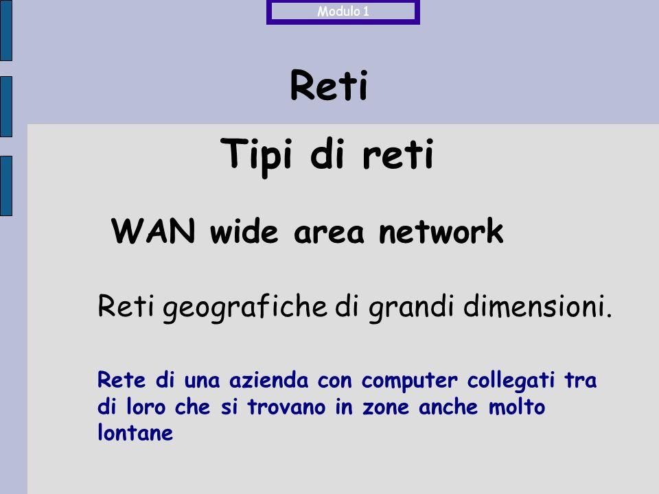 Reti ISDN Integrated System of Digital Network Linea telefonica digitale per connessioni dial-up, a commutazione di circuito con velocità di trasmissione 128 Kbps Modulo 1 Servizi per la connessione ad internet