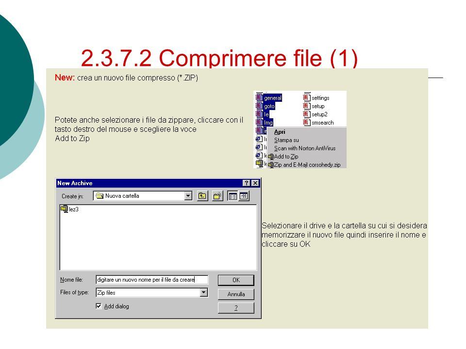 2.3.7.2 Comprimere file (1)