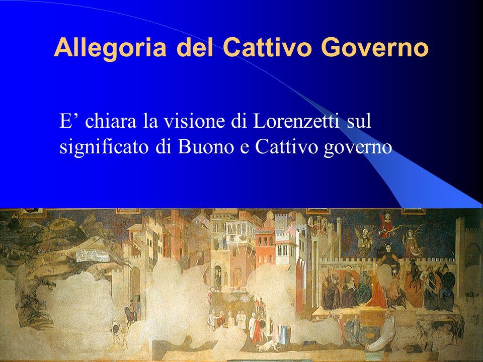 Allegoria del Cattivo Governo E chiara la visione di Lorenzetti sul significato di Buono e Cattivo governo