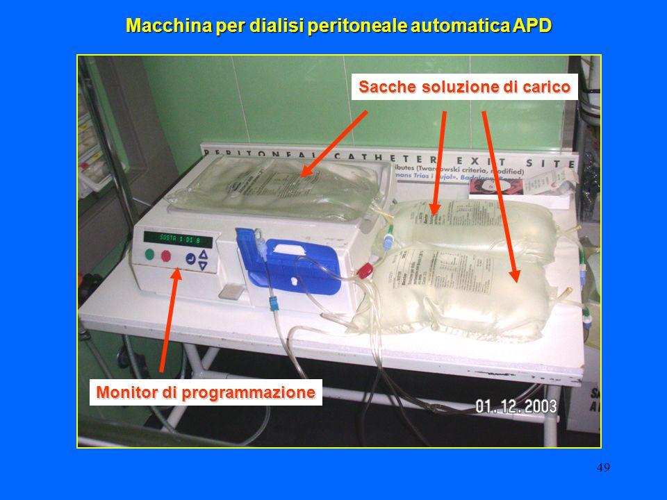 49 Macchina per dialisi peritoneale automatica APD Sacche soluzione di carico Monitor di programmazione