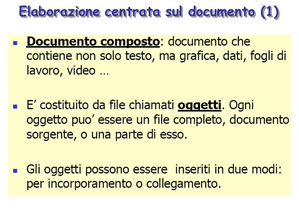 Elaborazione centrata sul documento (1)