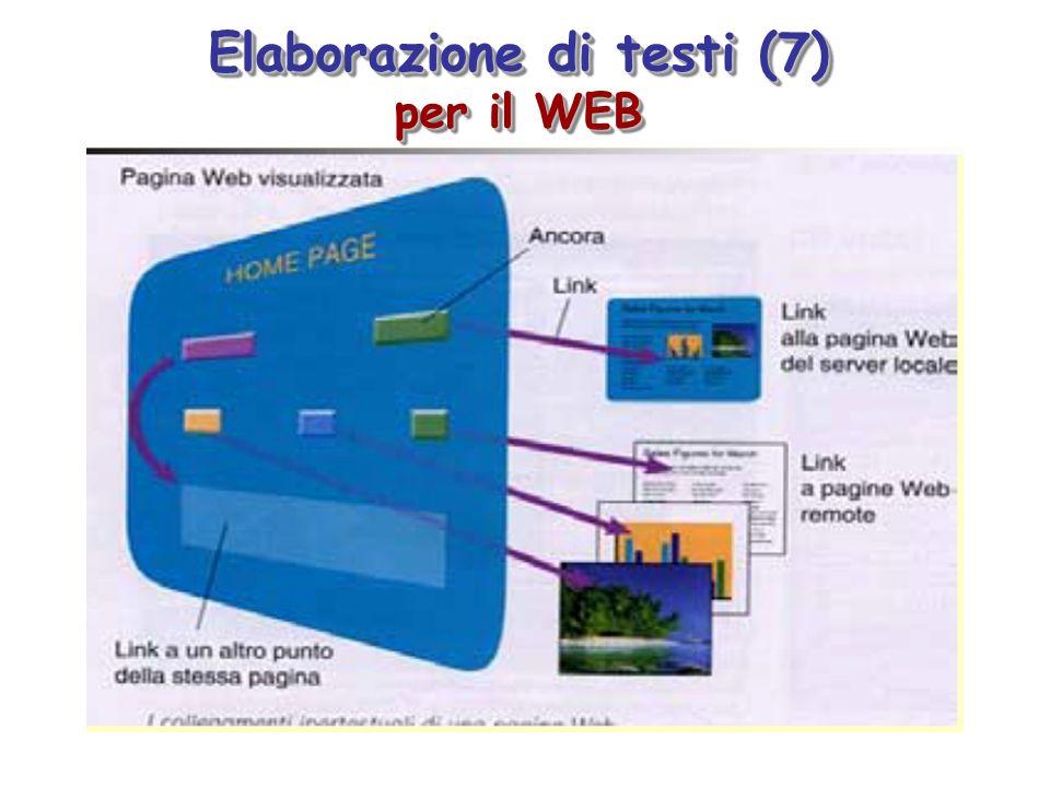 Elaborazione di testi (7) per il WEB Elaborazione di testi (7) per il WEB