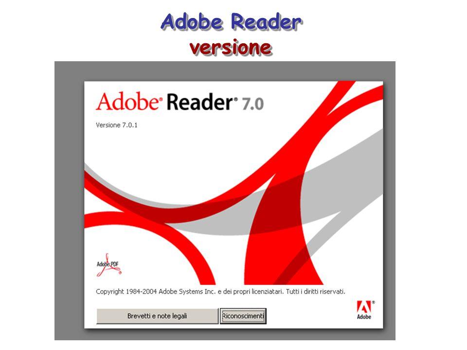Adobe Reader versione versione