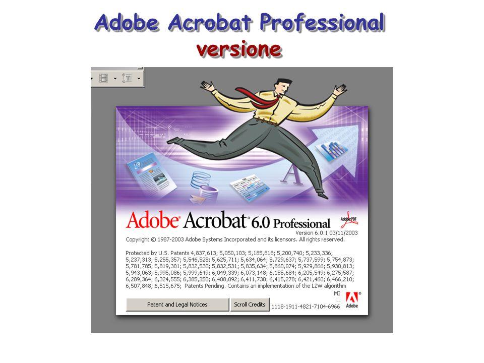Adobe Acrobat Professional versione versione