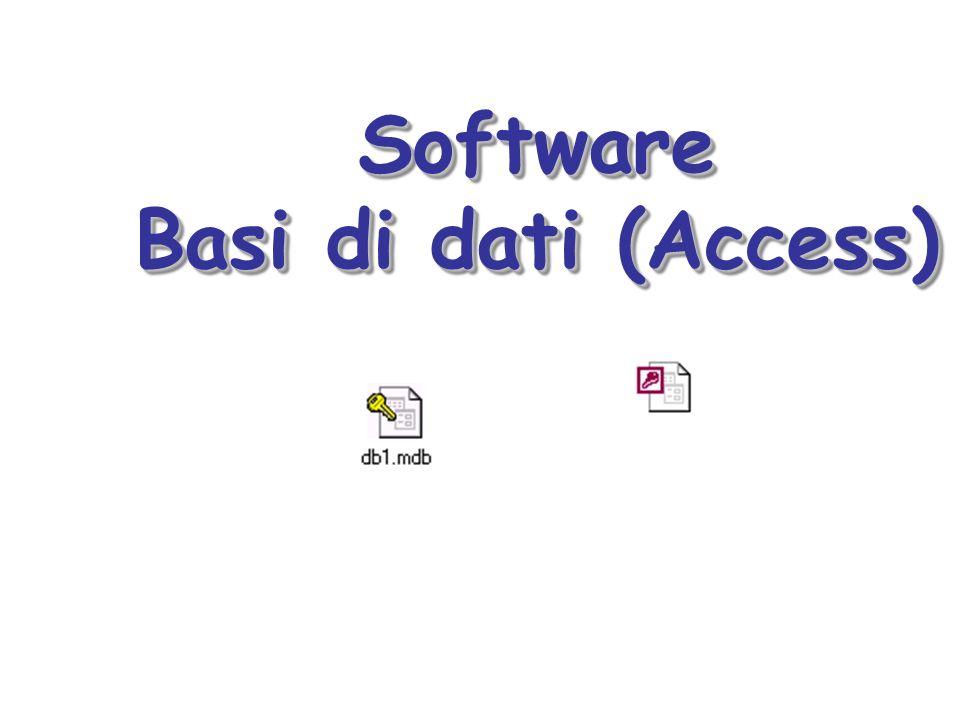 Software Basi di dati (Access) Software