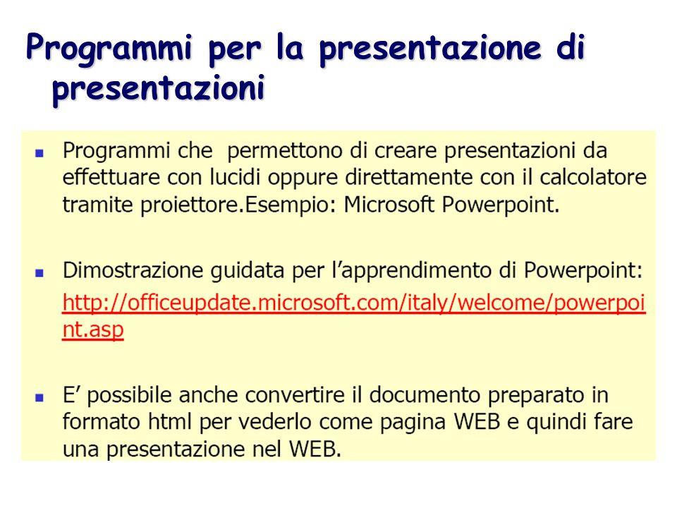 Programmi per la presentazione di presentazioni