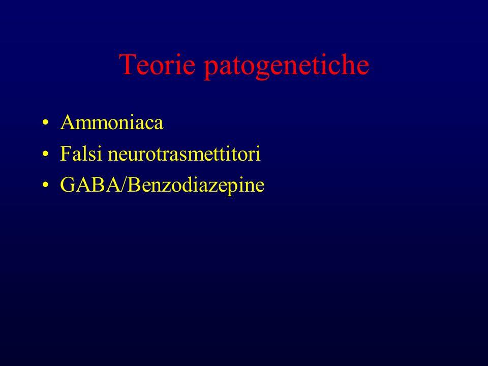 Teorie patogenetiche Ammoniaca Falsi neurotrasmettitori GABA/Benzodiazepine