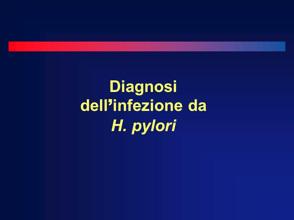 Diagnosi dell infezione da H. pylori