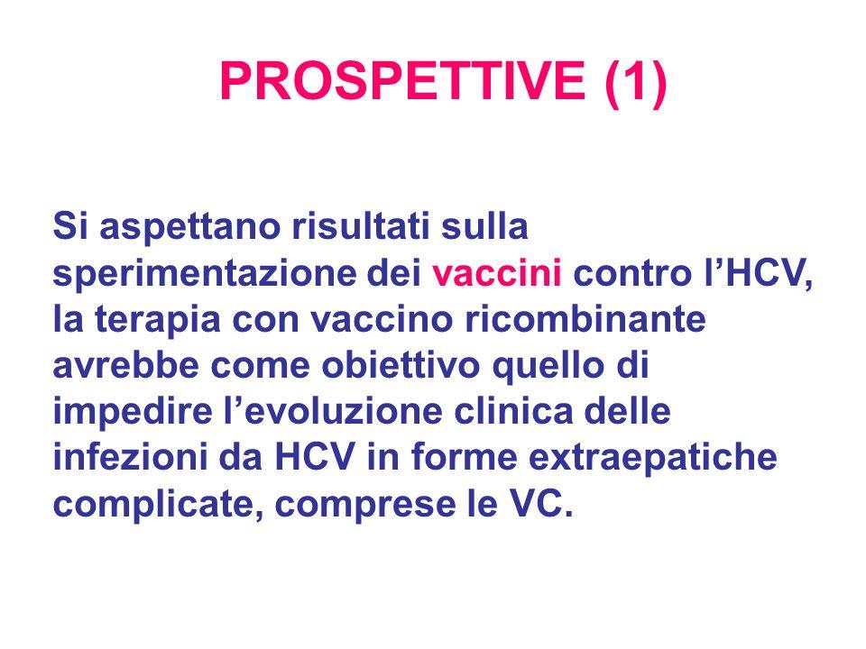 Si aspettano risultati sulla sperimentazione dei vaccini contro lHCV, la terapia con vaccino ricombinante avrebbe come obiettivo quello di impedire le