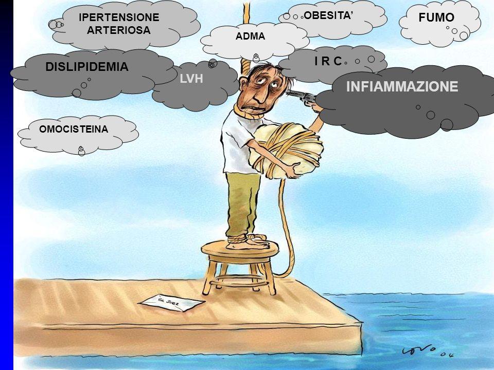 FUMO IPERTENSIONE ARTERIOSA LVH OMOCISTEINA DISLIPIDEMIA OBESITA I R C ADMA INFIAMMAZIONE