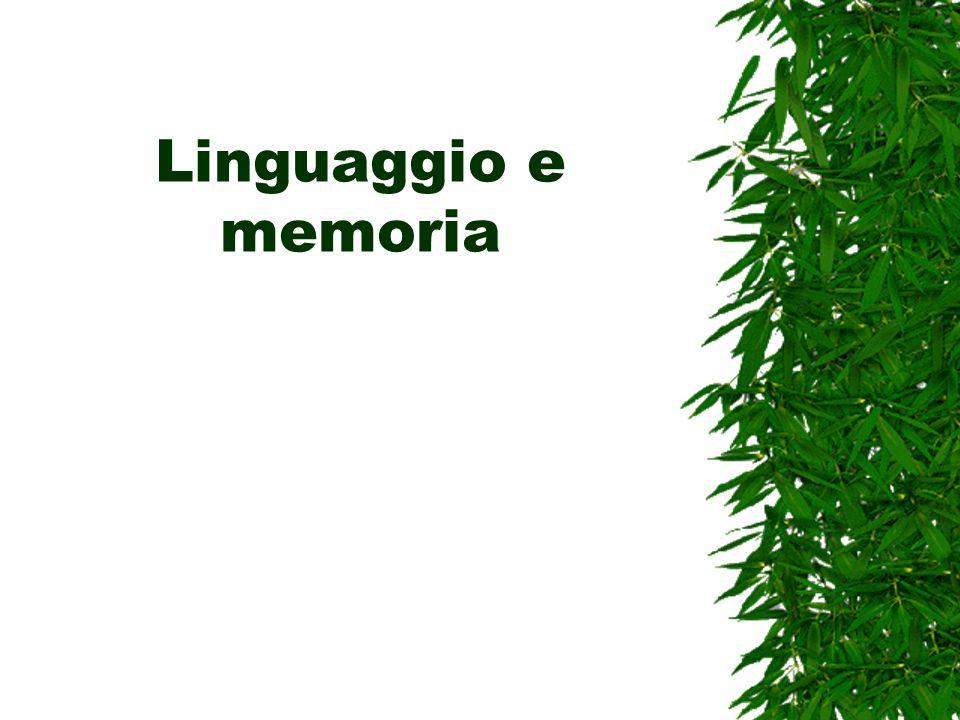 Linguaggio e memoria