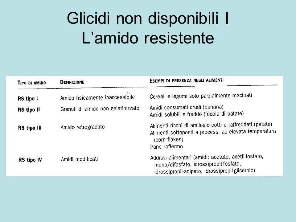 Glicidi non disponibili I Lamido resistente