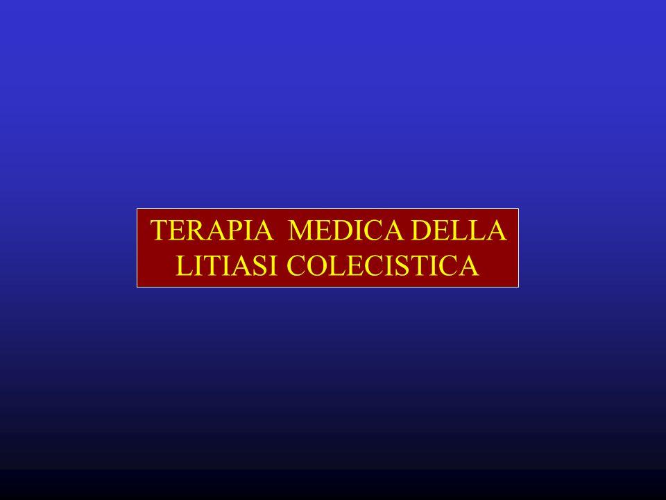TERAPIA MEDICA DELLA LITIASI COLECISTICA