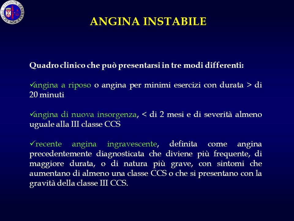 Ospedale Ferrarotto Università di Catania A. Mioglobina; B. Troponina; C. CPK-MB; D. Troponina