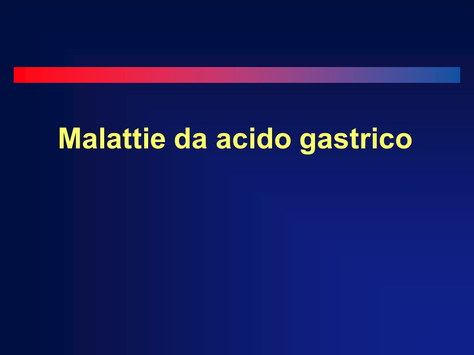 Malattie da acido gastrico