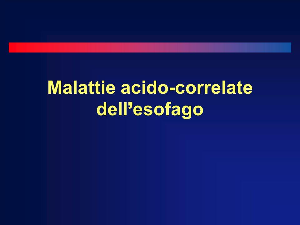 Malattie acido-correlate dell esofago
