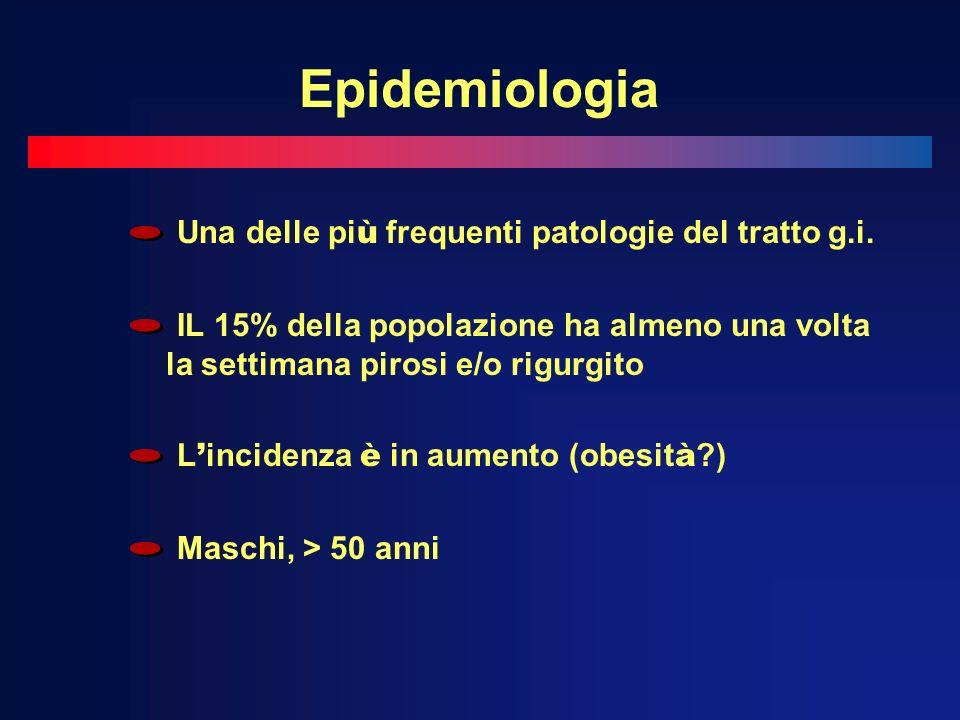 Epidemiologia Una delle pi ù frequenti patologie del tratto g.i.