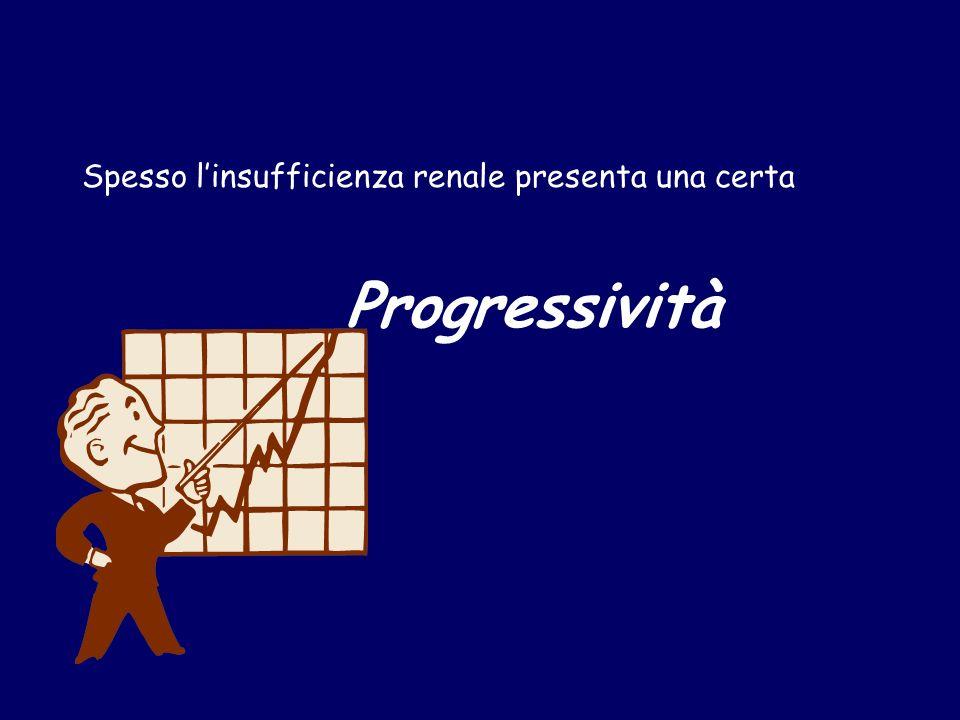 Progressività Spesso linsufficienza renale presenta una certa