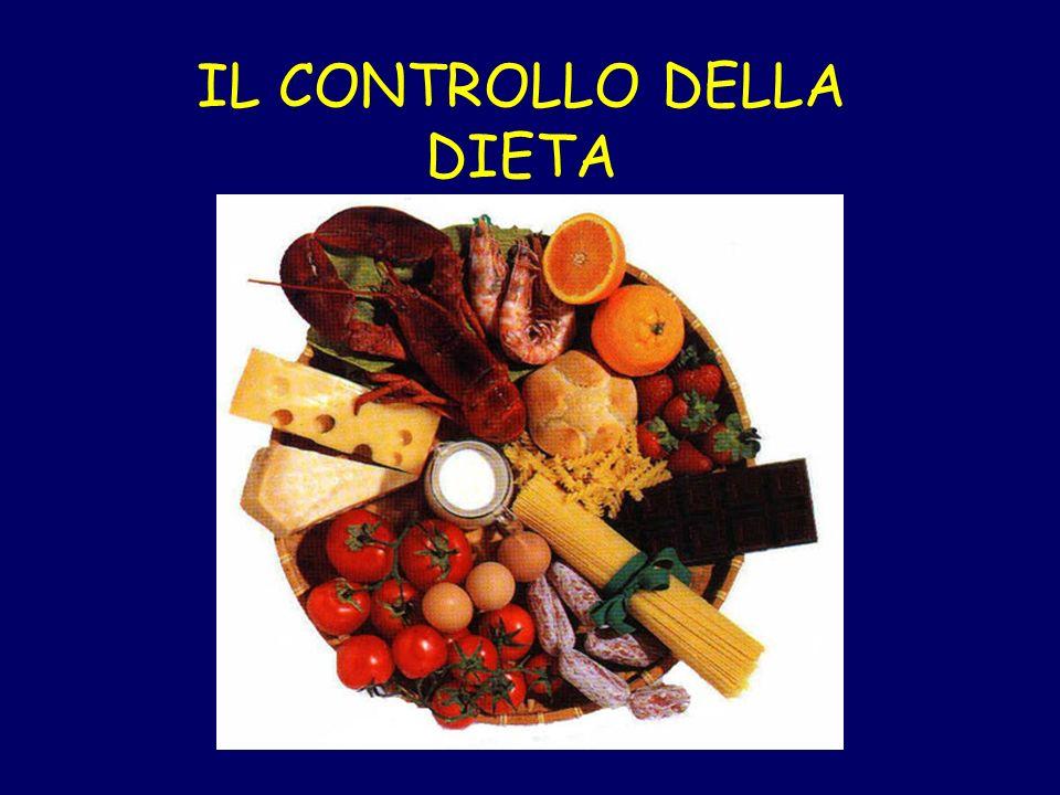 IL CONTROLLO DELLA DIETA