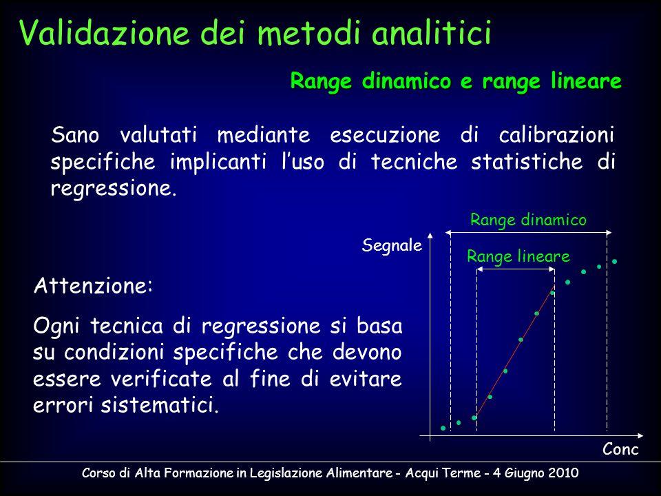Corso di Alta Formazione in Legislazione Alimentare - Acqui Terme - 4 Giugno 2010 Sano valutati mediante esecuzione di calibrazioni specifiche implica