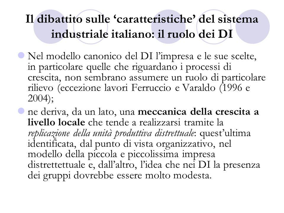Il dibattito sulle caratteristiche del sistema industriale italiano La seconda prospettiva ha enfatizzato il ruolo della grande impresa nella sua funzione di leadership nei processi innovativi ed in quelli di internazionalizzazione.