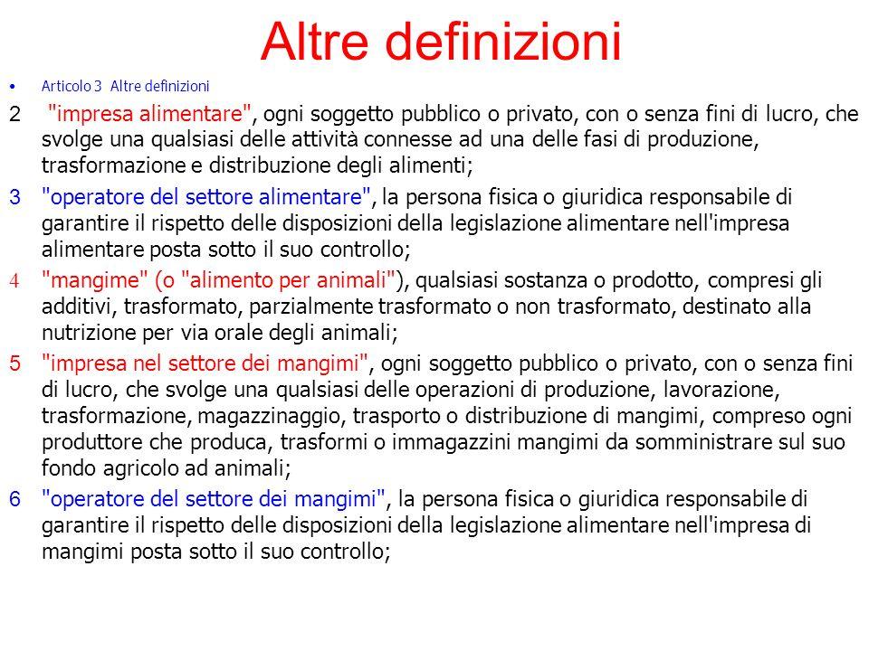Altre definizioni Articolo 3 Altre definizioni 2