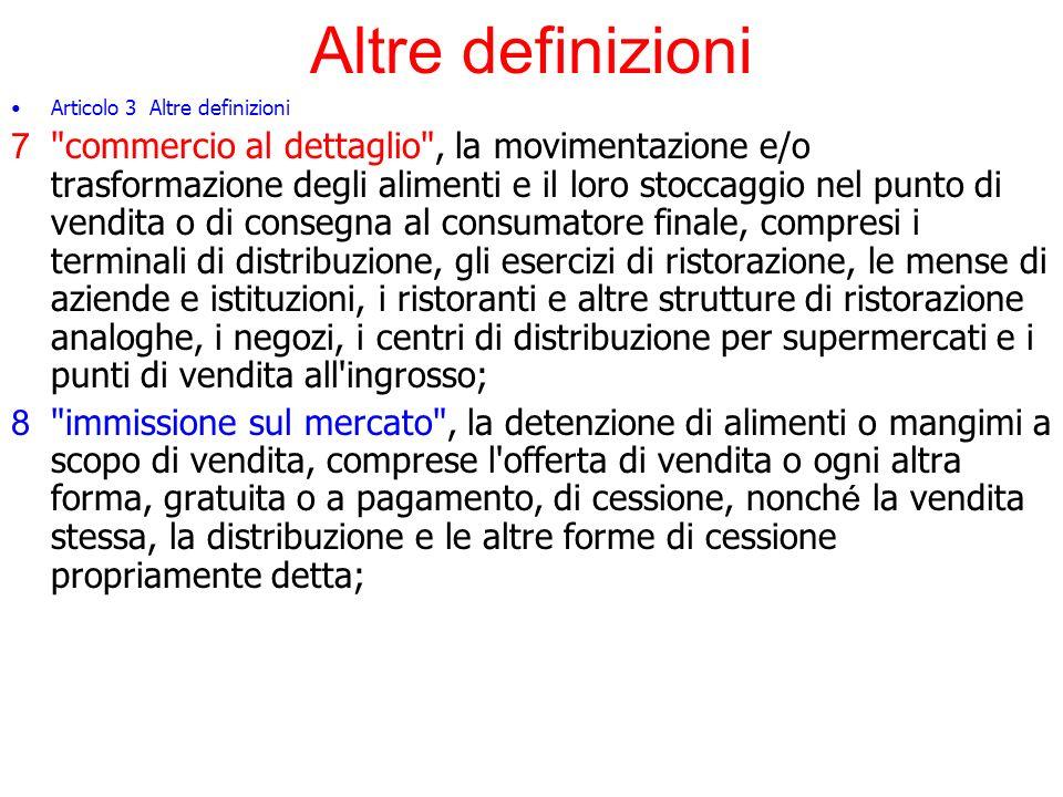 La disciplina alimentare orizzontale Articolo 6 Analisi del rischio 1.