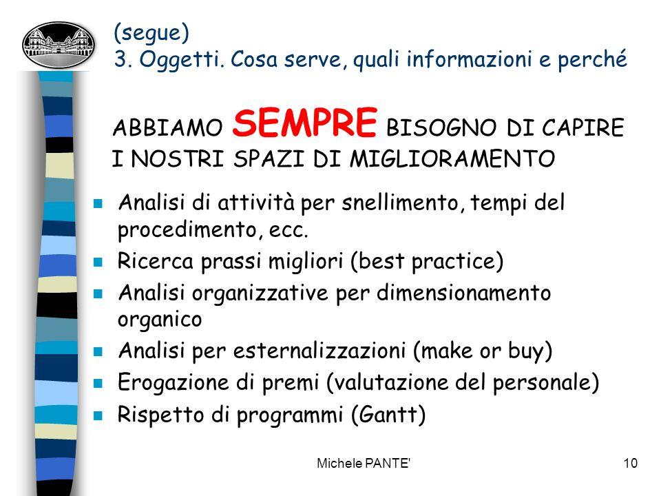 Michele PANTE 9 3.Oggetti.