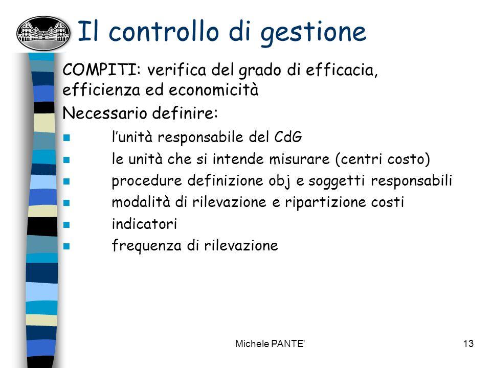 Michele PANTE 12 I controlli interni (art.17 c. 1 l.
