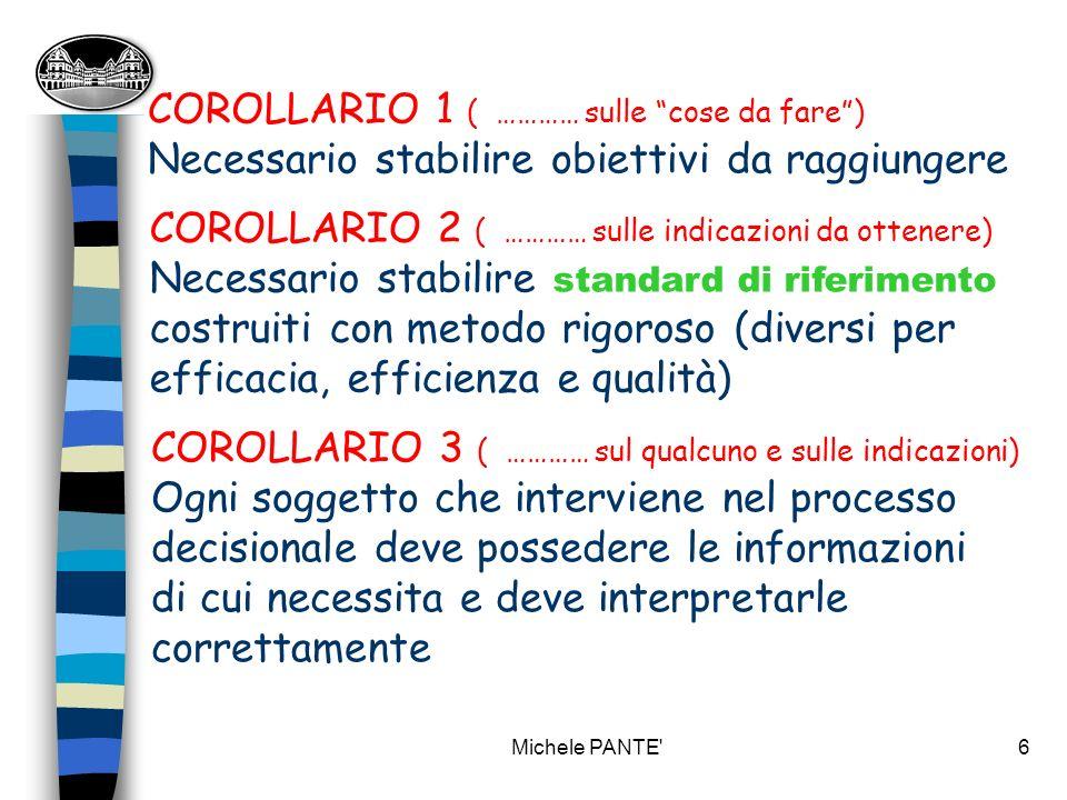 Michele PANTE 36 Rotazione delle scorte (RF/ RI + acq. Anno) (valore percentuale)