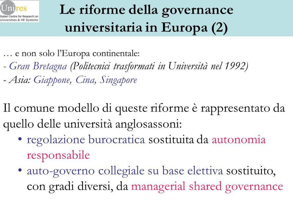 a) Fattori economici: lenorme aumento dei costi necessari a finanziare un SIS di massa + la retorica delleconomia della conoscenza che affida alle università un ruolo cruciale nello sviluppo.