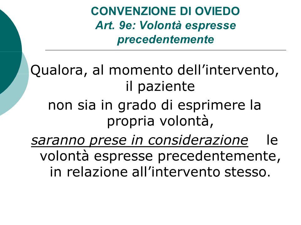 CONVENZIONE DI OVIEDO Art.