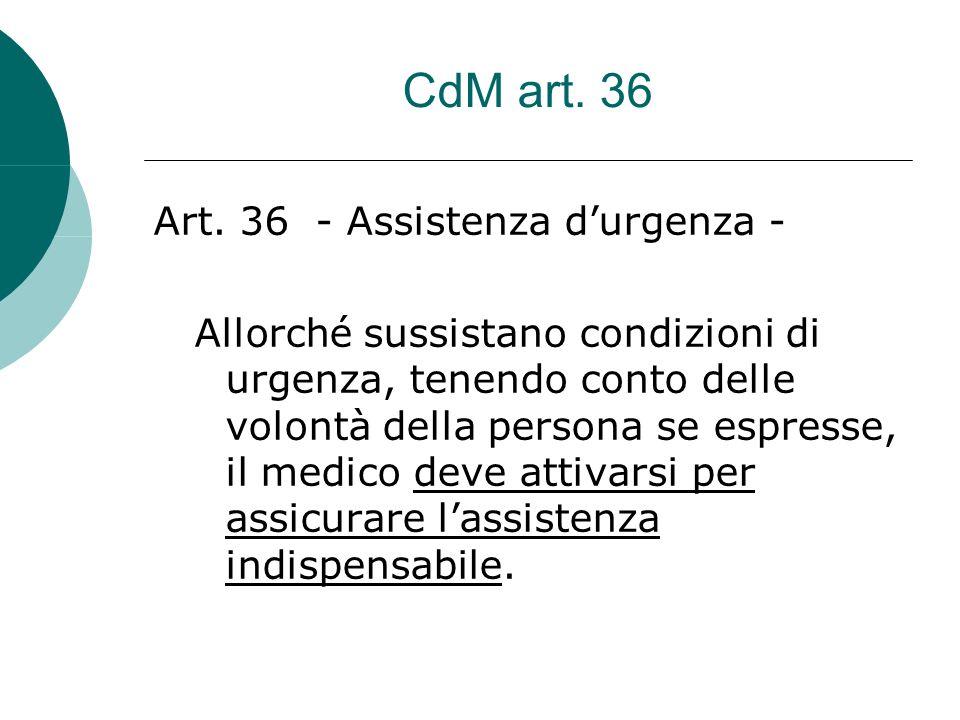 CdM art. 36 Art.