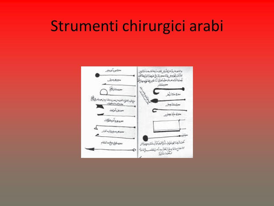 Strumenti chirurgici arabi