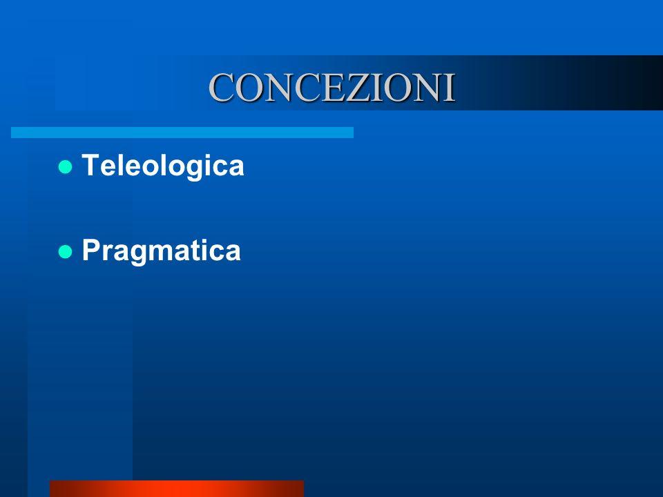 CONCEZIONI Teleologica Pragmatica