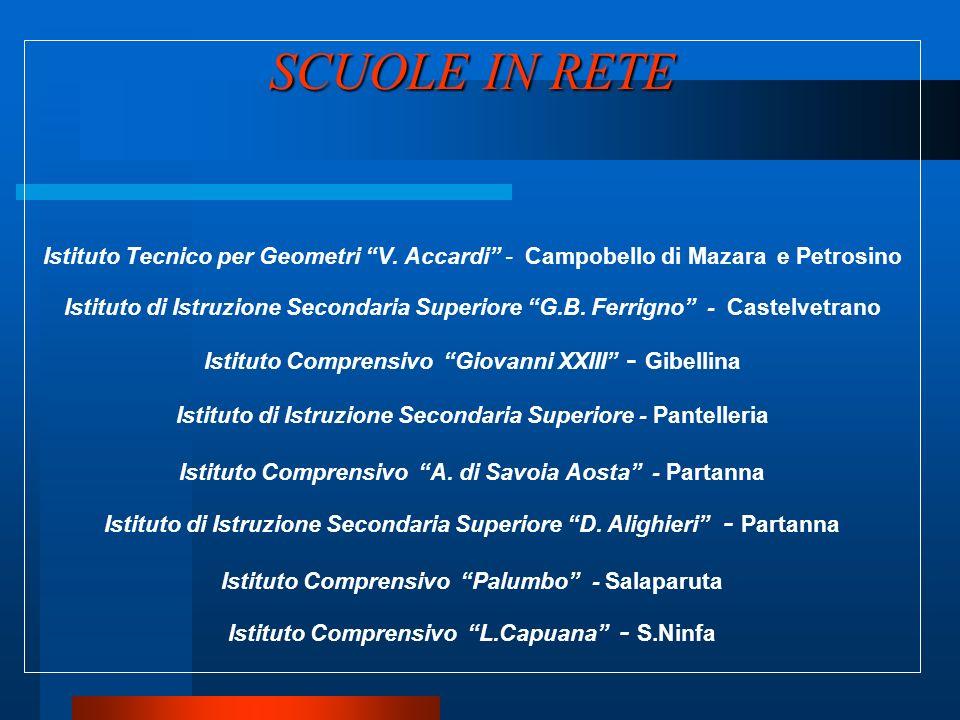 SCUOLE IN RETE SCUOLE IN RETE Istituto Tecnico per Geometri V. Accardi - Campobello di Mazara e Petrosino Istituto di Istruzione Secondaria Superiore