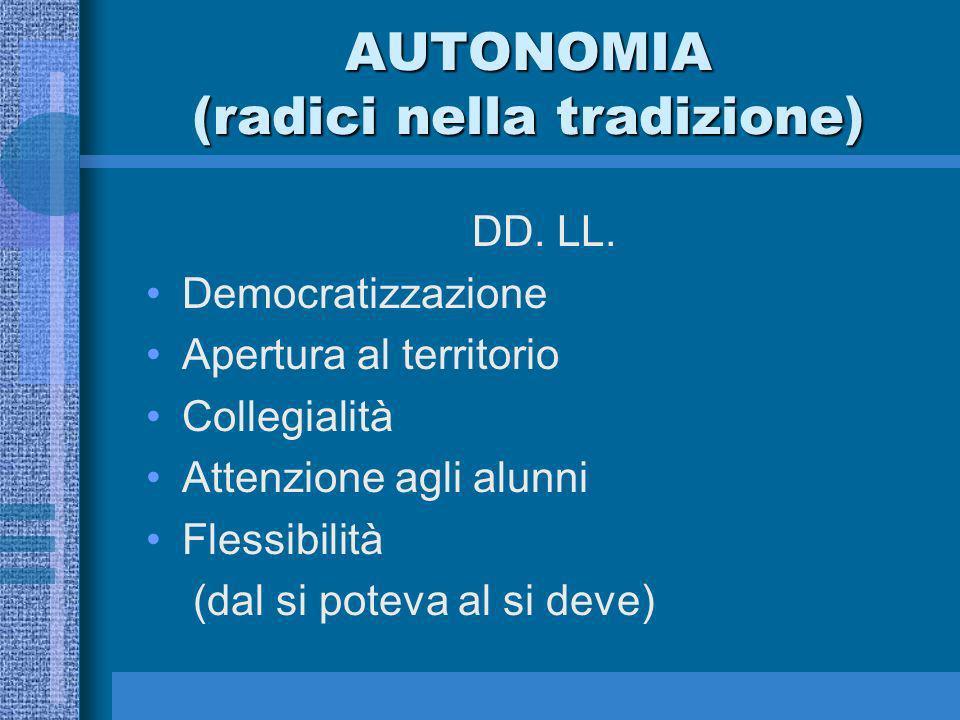 AUTONOMIA (radici nella tradizione) DD. LL.
