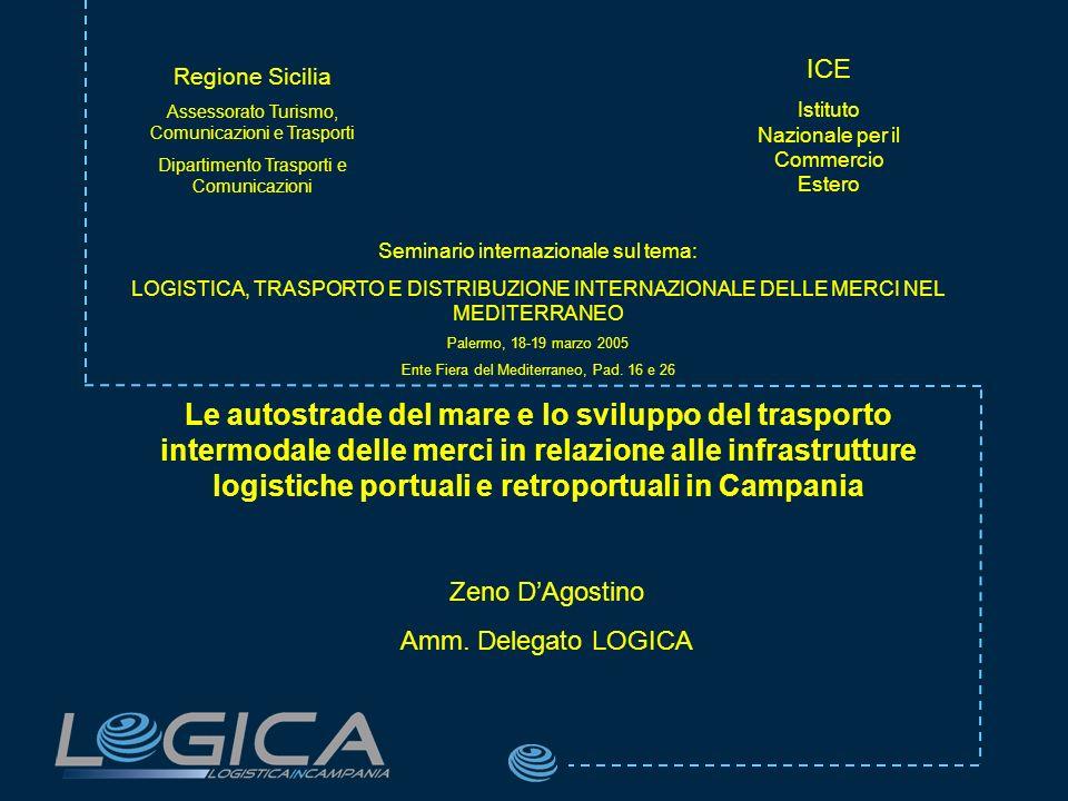 Seminario internazionale sul tema: LOGISTICA, TRASPORTO E DISTRIBUZIONE INTERNAZIONALE DELLE MERCI NEL MEDITERRANEO Palermo, 18-19 marzo 2005 Ente Fiera del Mediterraneo, Pad.