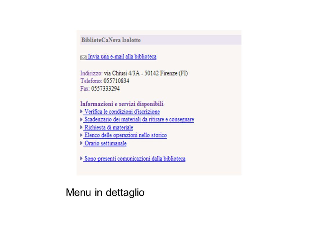 Lo scadenzario dei materiali Nello scadenzario vedi: i documenti presi in prestito le date di scadenza la possibilità di proroga le prenotazioni e le richieste di deposito in corso