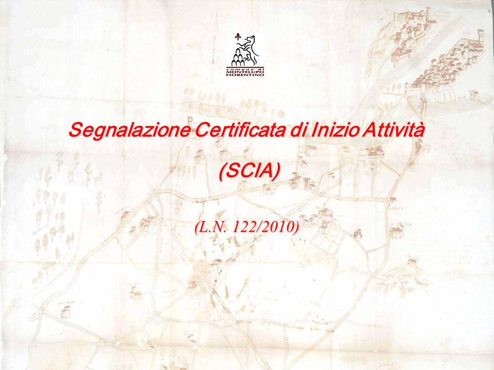 Segnalazione Certificata di Inizio Attività (SCIA) (SCIA) (L.N. 122/2010)