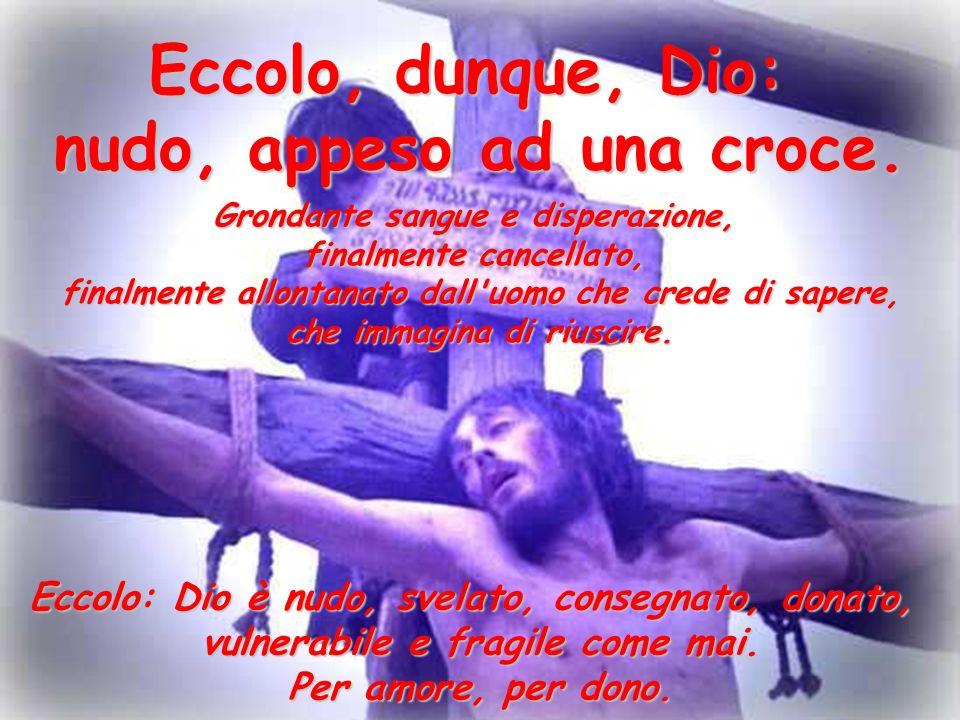 Gesù uomo, splendido uomo, vero uomo, uomo compiuto e fragile si appresta a fare una volontà amara, a compiere un gesto estremo che resterà segno di contraddizione.