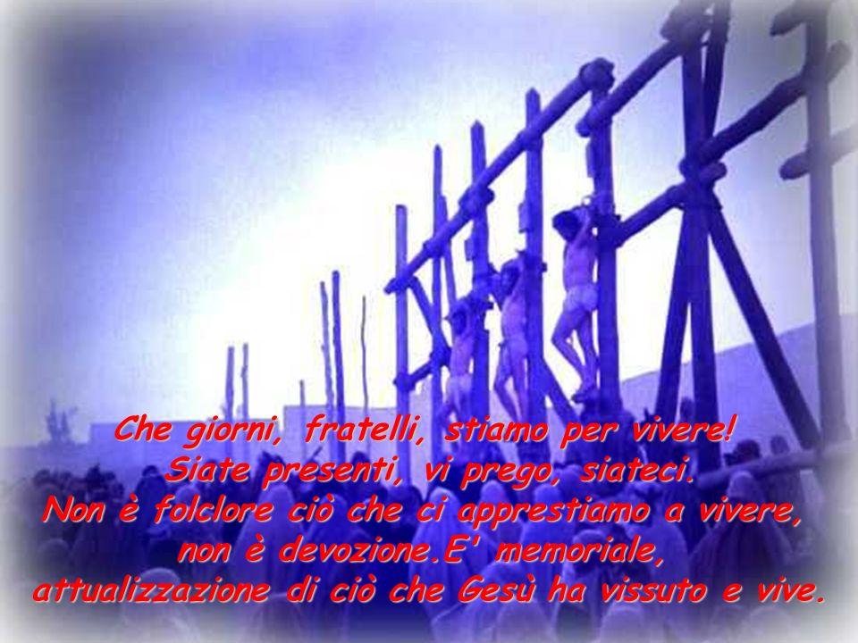 E piena di tenerezza la passione di Gesù, piena di miracoli (l orecchio riattaccato del servo, Gesù che consola le donne, Erode e Pilato che diventano amici, il buon ladrone che si converte), senza eccessi, senza traumi.