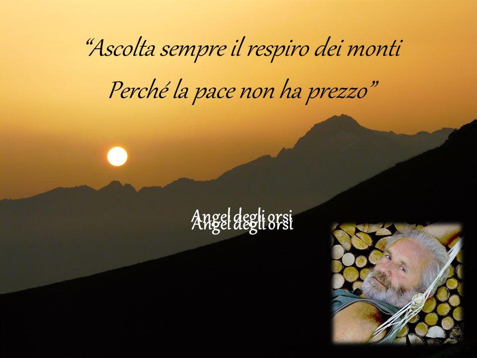Angel degli orsi Ascolta sempre il respiro dei monti Perché la pace non ha prezzo Angel degli orsi